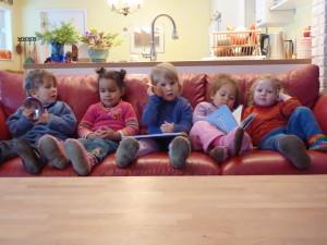 Children on Couch